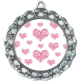 Valentine theme medal..  Includes free engraving and neck ribbon.   multi-md40s