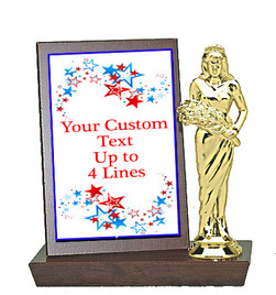 Color Custom Plaque and Trophy in One!   Choice of figure.  (004)