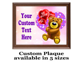 Custom Full Color Plaque.  Brown plaque with full color plate. 5 Plaques sizes available - Val002