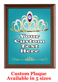 Custom Full Color Plaque.  Brown plaque with full color plate.  5 Plaques sizes available - pag004