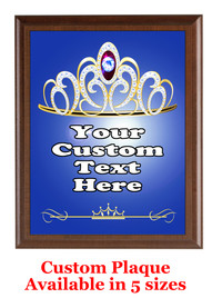 Custom Full Color Plaque.  Brown plaque with full color plate.  5 Plaques sizes available - pag005