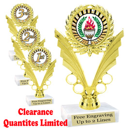 "Clearance - Discontinued   6"" trophy .  Quantities limited  (ph24"