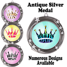 Animal Print Medal.  Antique Silver medal finish.   Includes free engraving and neck ribbon.