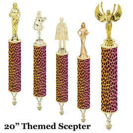 "Scepter!  20"" tall with choice of figure.   (001"