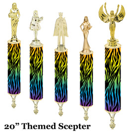 "Scepter!  20"" tall with choice of figure.   (002"