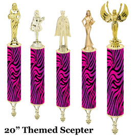 "Scepter!  20"" tall with choice of figure.   (003"