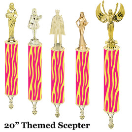 "Scepter!  20"" tall with choice of figure.   (007"