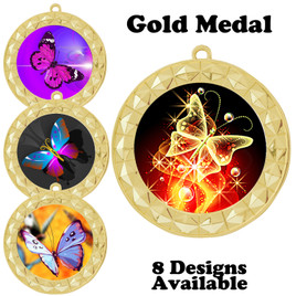 Butterfly theme medal with choice of 8 artwork designs.  935G