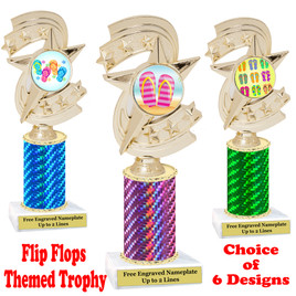 Flip Flop  theme trophy.  Choice of trophy height, column color and base. (h300