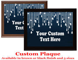 Custom Full Color Plaque.  Choice of black or brown plaque with full color plate.  5 Plaques sizes available - Diamond 12