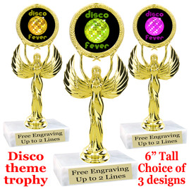 Disco Fever theme trophy with choice of art work.  (80087