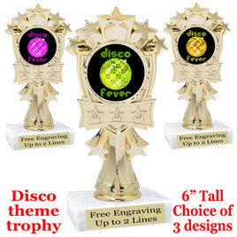 Disco Fever theme trophy with choice of art work.  (mf3260