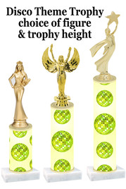 Disco theme  trophy with choice of trophy height and figure (002