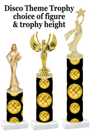 Disco theme  trophy with choice of trophy height and figure (003