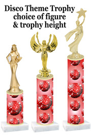 Disco theme  trophy with choice of trophy height and figure (004