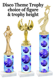 Disco theme  trophy with choice of trophy height and figure (005