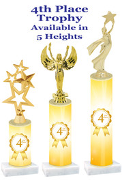 4th Place   trophy with choice of trophy height and figure.  Great awards for all of your events!