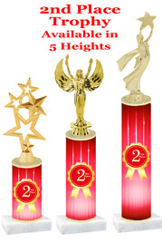 2nd Place  trophy with choice of trophy height and figure.  Great awards for all of your events!