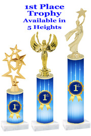 1st Place  trophy with choice of trophy height and figure.  Great awards for all of your events!