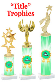 Title  trophy with choice of title, trophy height and figure.  Great awards for all of your events!  (green
