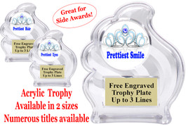 "NEW!  Acrylic ""Wave"" trophy available in 2 sizes!  Numerous titles available. (wav title 005"