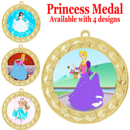 Princess theme medal with choice of 4 designs.  Our exclusive designs!  (935g