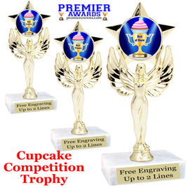 "Cupcake title trophy.  6""tall with choice of title for your winner!  Great for Cupcake wars and baking contests.  (7517"