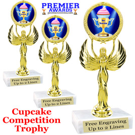 "Cupcake title trophy.  6""tall with choice of title for your winner!  Great for Cupcake wars and baking contests.  (80087"