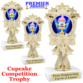 "Cupcake title trophy.  6""tall with choice of title for your winner!  Great for Cupcake wars and baking contests.  (mf3260"
