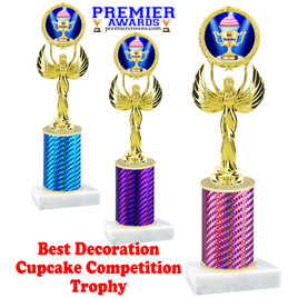Cupcake title trophy.  BEST DECORATION  title.  Great for Cupcake wars and baking contests.  (80087