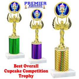 Cupcake title trophy.  BEST OVERALL  title.  Great for Cupcake wars and baking contests.  (80087