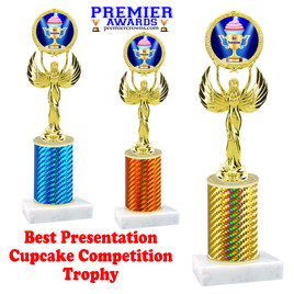 Cupcake title trophy.  BEST PRESENTATION  title.  Great for Cupcake wars and baking contests.  (80087