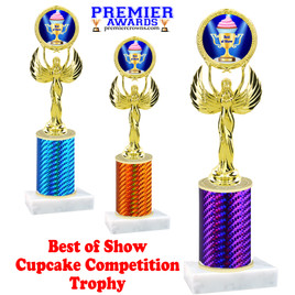 Cupcake title trophy.  BEST OF SHOW  title.  Great for Cupcake wars and baking contests.  (80087