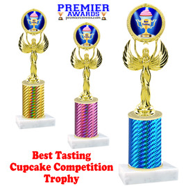 Cupcake title trophy.  BEST TASTING  title.  Great for Cupcake wars and baking contests.  (80087