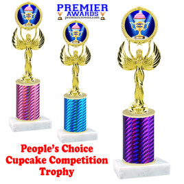 Cupcake title trophy.  JUDGE'S CHOICE  title.  Great for Cupcake wars and baking contests.  (80087