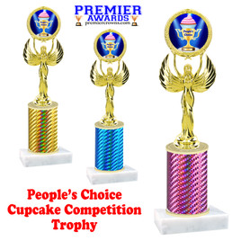 Cupcake title trophy.  PEOPLE'S CHOICE  title.  Great for Cupcake wars and baking contests.  (80087
