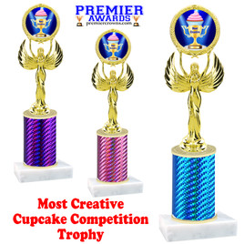 Cupcake title trophy.  MOST CREATIVE  title.  Great for Cupcake wars and baking contests.  (80087