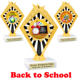 Back to School themed trophy.  9 Designs available. (92656)