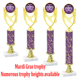 Mardi Gras Trophy - Available in multiple heights.