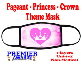 Pageant, Princess, Crown,  theme mask.  Non-Medical.  pageant 001