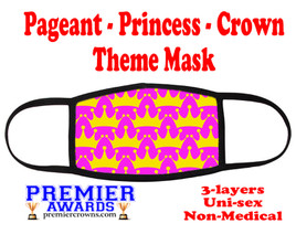 Pageant, Princess, Crown,  theme mask.  Non-Medical.  pageant 002
