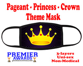 Pageant, Princess, Crown,  theme mask.  Non-Medical.  pageant 003