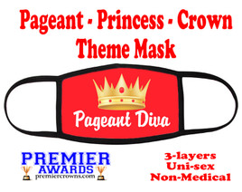 Pageant, Princess, Crown,  theme mask.  Non-Medical.  pageant 004