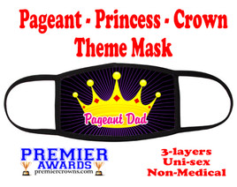 Pageant, Princess, Crown,  theme mask.  Non-Medical.  pageant 005