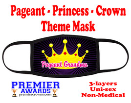 Pageant, Princess, Crown,  theme mask.  Non-Medical.  pageant 006