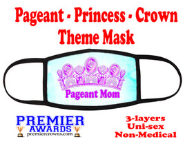 Pageant, Princess, Crown,  theme mask.  Non-Medical.  pageant 007