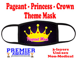 Pageant, Princess, Crown,  theme mask.  Non-Medical.  pageant 008