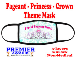 Pageant, Princess, Crown,  theme mask.  Non-Medical.  pageant 009