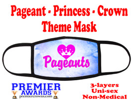 Pageant, Princess, Crown,  theme mask.  Non-Medical.  pageant 010