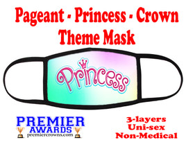 Pageant, Princess, Crown,  theme mask.  Non-Medical.  pageant 011